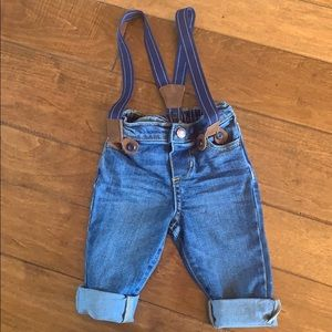 Baby B'gosh jeans with detachable suspenders